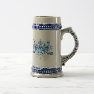 Chope À Bière Couronne de papa, bleu, Stein