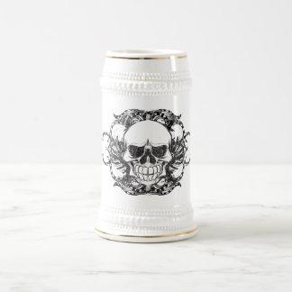 Chope À Bière Crâne tribal urbain