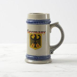 Chope À Bière Crête de l'Allemagne/manteau des bras allemand