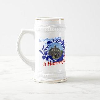 Chope À Bière Delft Fryslân bleu il bière Stein de Hearrenfean