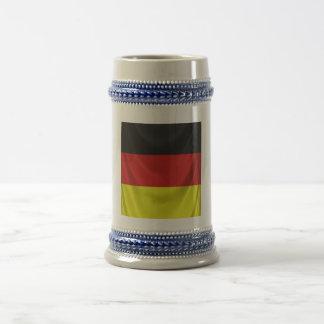 Chope À Bière drapeau allemand carré drapé
