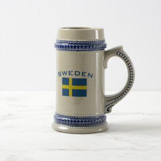 Chope À Bière Drapeau de la Suède