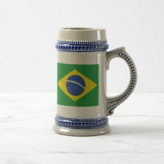 Chope À Bière Drapeau du Brésil
