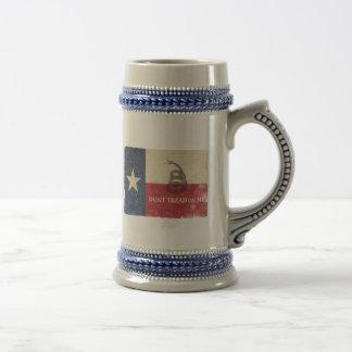 Chope À Bière Drapeau du Texas et de Gadsden