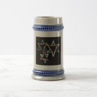 Chope À Bière Étoiles juives au néon Stein