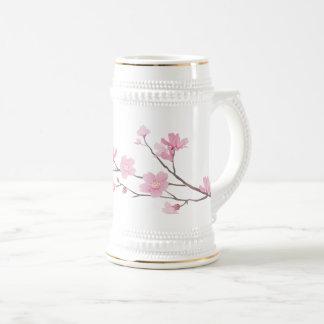 Chope À Bière Fleurs de cerisier - Transparent-Arrière - plan