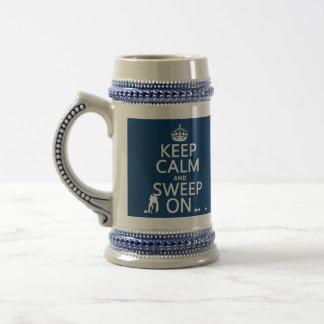 Chope À Bière Gardez le calme et le balayez sur (se courbant)