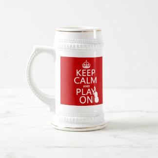 Chope À Bière Gardez le calme et le jeu sur (violon) (toute