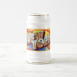 Chope À Bière Grande carte postale de voyage de lettre de New