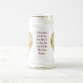 Chope À Bière Guerrier Stein spartiate d'or