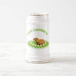 Chope À Bière J'aime des Capybaras