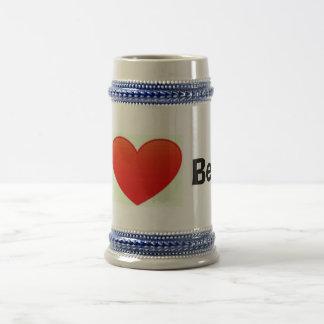 Chope À Bière J'aime le stein de bière