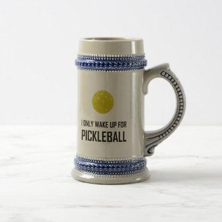 Chope À Bière Je me réveille seulement pour Pickleball