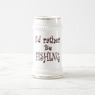 Chope À Bière Je PÊCHERAIS plutôt