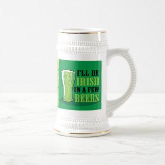 Chope À Bière Je serai irlandais en quelques bières