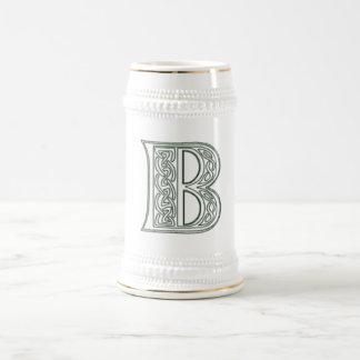 Chope À Bière KRW - B - Monogramme celtique Stein