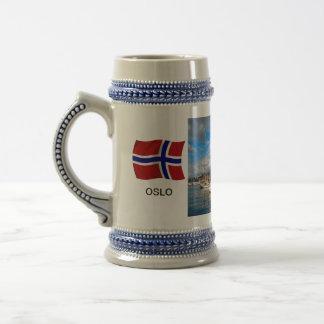 Chope À Bière La Norvège, port d'Oslo ; marina de yacht, port