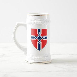 Chope À Bière La Norvège Stein - le bouclier croisé de Rune
