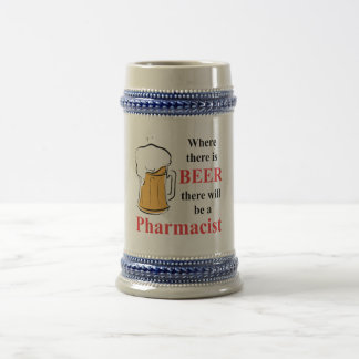 Chope À Bière Là où il y a bière - pharmacien