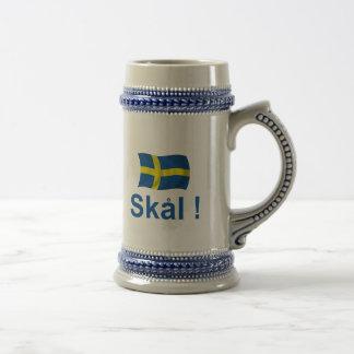 Chope À Bière La Suède Skal !