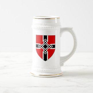 Chope À Bière L'Allemagne Stein - le bouclier croisé de Rune