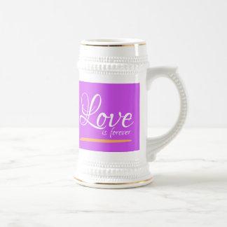 Chope À Bière L'amour est attaque pour toujours des Steins de