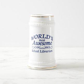 Chope À Bière Le bibliothécaire d'école le plus impressionnant