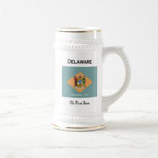 Chope À Bière Le Delaware la première bière Stein d'état