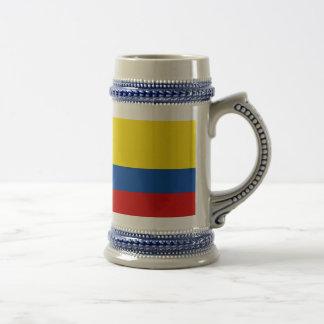 Chope À Bière Le drapeau de la Colombie