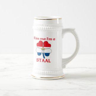 Chope À Bière Les Néerlandais personnalisés m'embrassent que je