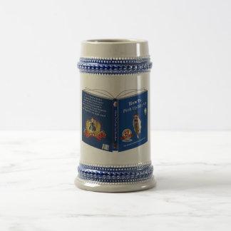 Chope À Bière Livre de berger allemand gris/bleu 18 once Stein