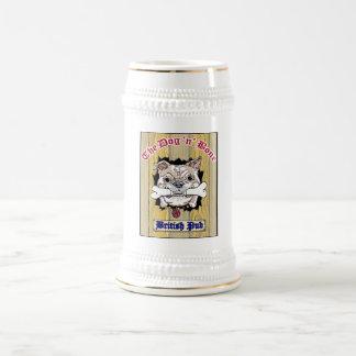 Chope À Bière Logo de Stein de bière d'os du chien N au centre