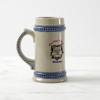 Chope À Bière Main droite de Stein d'os du chien N