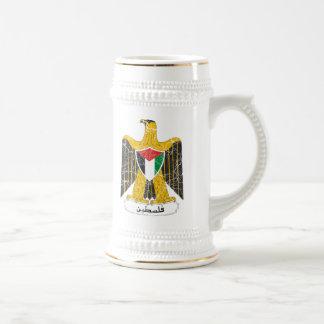 Chope À Bière Manteau de la Palestine des bras