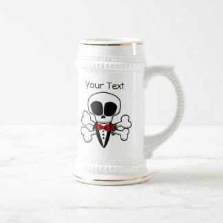 Chope À Bière Marié de crâne entièrement personnalisable