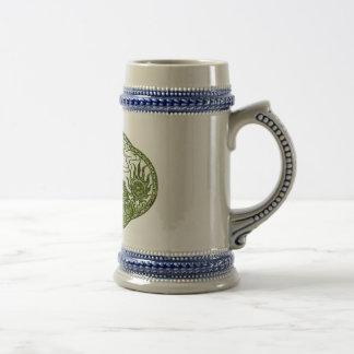 Chope À Bière Médaillon de dragon vert de Peridot