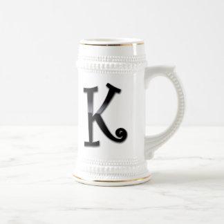 Chope À Bière Monogramme noir de lustre - K