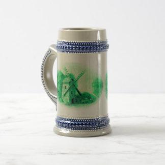Chope À Bière Moulin à vent vert de Delft, cheval vert de Delft