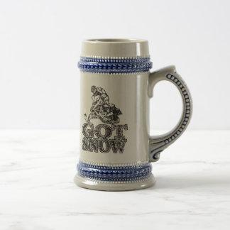 Chope À Bière Neige obtenue Snowmobiler