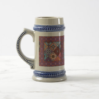Chope À Bière Ornement vintage de talavera de mosaïque