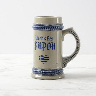 Chope À Bière Papou Stein - meilleur Papou du monde (Grec -