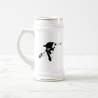 Chope À Bière Parachutisme noir et blanc