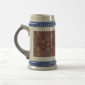 Chope À Bière Patchwork vintage avec les éléments floraux de