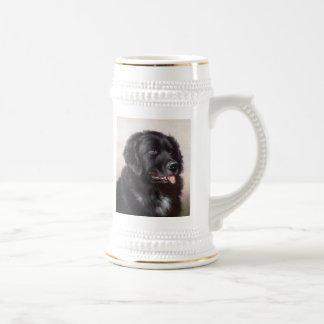 Chope À Bière Portrait de chien de Terre-Neuve