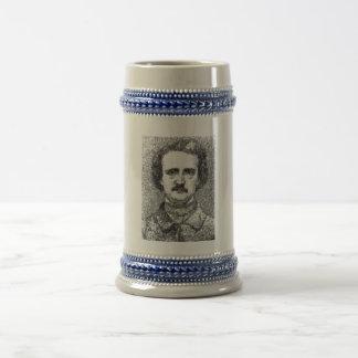 Chope À Bière Portrait d'Edgar Allan Poe