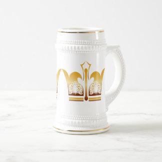 Chope À Bière Roi de blanc d'or