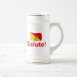 Chope À Bière Salut de la Sicile !