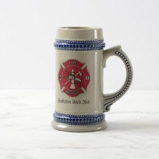 Chope À Bière Sapeur-pompier Stein