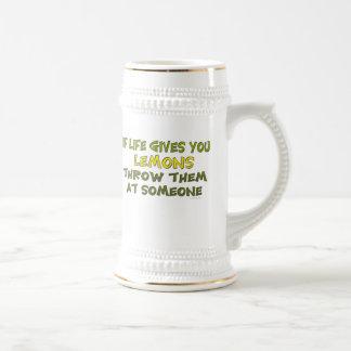 Chope À Bière Si la vie vous donne les citrons attaquent