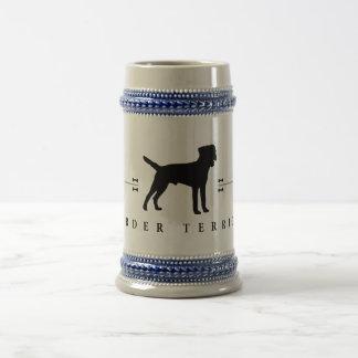 Chope À Bière Silhouette -1- de Terrier de frontière